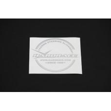 Hardrace P0031-001 Hardrace Fuel Cap Sticker - Silver