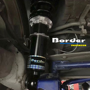 Border Coilovers for Toyota Corolla on car
