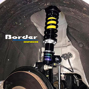 Border Coilovers for Ford Focus MK4 on car