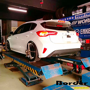 Border Coilovers on Ford Focus MK4