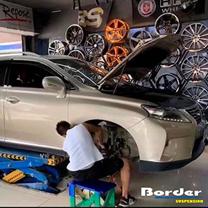 Border Coilovers on Lexus RX
